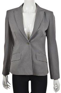 BCBGMAXAZRIA Bcbg Max Azria Womens Gray Blazer Speckled Long Sleeve Wtw Jacket