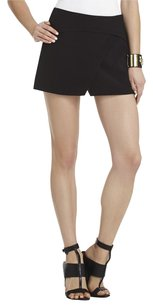 BCBGMAXAZRIA Crepe Classic Chic Comfortable Mini Mini Skirt Black