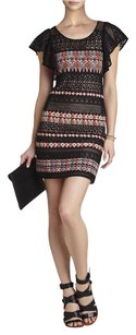 BCBGMAXAZRIA short dress BLACK COMBO on Tradesy
