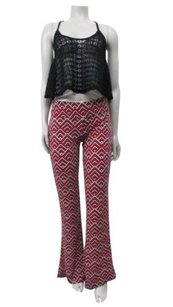 BCBGMAXAZRIA Arrowhead Poppy Flare Leg Stretch Pants