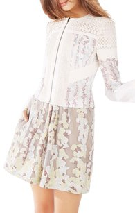 BCBGMAXAZRIA Floral Off White Combo Jacket
