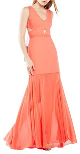 BCBGMAXAZRIA Gown Cutout Dress