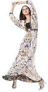 White MULTI COM Maxi Dress by BCBGMAXAZRIA
