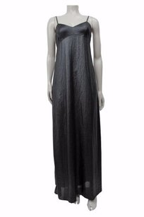 Black Maxi Dress by BCBGMAXAZRIA Deanne Shimmer Slip Sheer Long Maxi