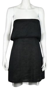 BCBGMAXAZRIA Runway Womens Strapless Linen Formal Sheath Dress