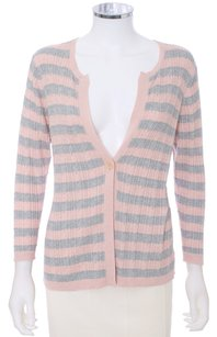 BCBGMAXAZRIA Silk Cotton Striped Cardigan