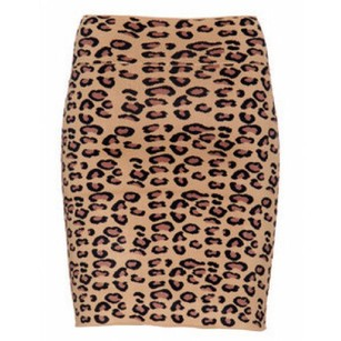 BCBGMAXAZRIA Skirt black brown tan