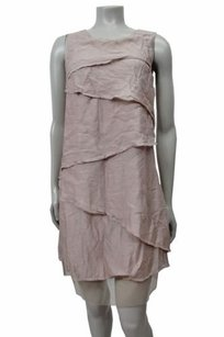 BCBGMAXAZRIA Runway Celine Cascading Silk Dress