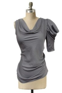 BCBGMAXAZRIA Bcbg Maxazria Dove One Ruched Top Gray
