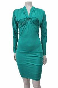 BCBGMAXAZRIA short dress Teal Bcbg Maxazria Knit on Tradesy