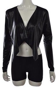 bebe Womens Shrug Metallic Open Front Polyester Sweater