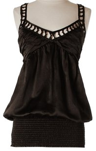 bebe Silk Ruched Top