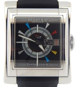 Bedat & Co Mens Bedat Co. Stainless Steel No7 The Spirit Day Date Automatic Watch Black