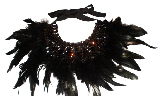 Bejeweled Feather Collar
