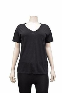 Bella Luxx V Neck Short T Shirt Black