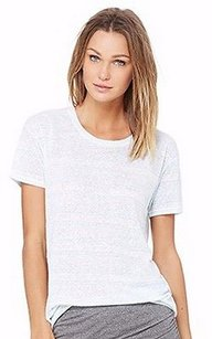Bella Luxx Perth Stripe Linen Blend Knit T Shirt Green/White