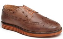 Ben Sherman Zito Wingtip Brown Perforated Leather Tie Mens Shoes