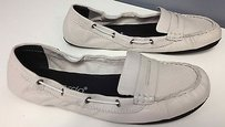 Bernardo Light Leather Cord Accented Side Casual Penny Loafers B2676 Gray Flats