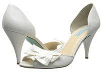 Betsey Johnson Lily Fashion Heel Pump Ivory Satin Formal
