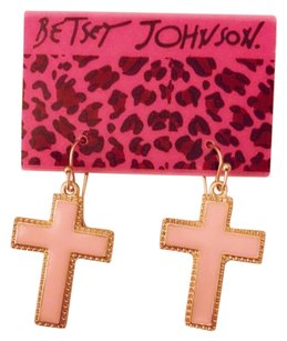 Betsey Johnson Peach Crosses