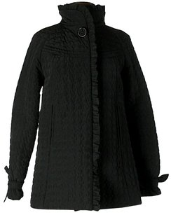 Betsey Johnson Quilted Ruff Edge Coat