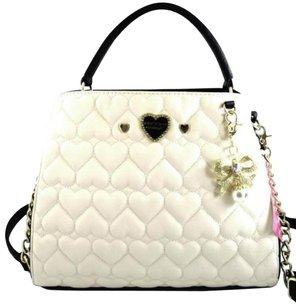 Betsey Johnson Single Handle Satchel in Ivory