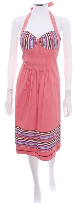 Betsey Johnson short dress PINK Summer Halter Cotton on Tradesy