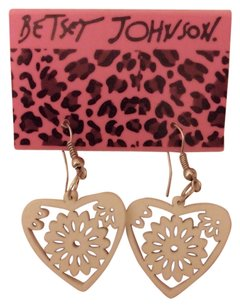 Betsey Johnson White Cut-Out Hearts