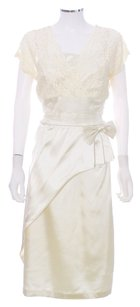 Bettie Page Organza V-neck Satin Lace Cummberbund Dress