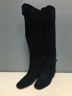Bettye Muller Navy Suede Blue Boots