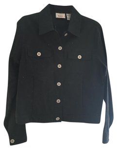 Bill Blass Linen Jeans black Jacket