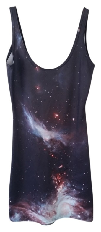 Black milk clothing red galaxy dress images