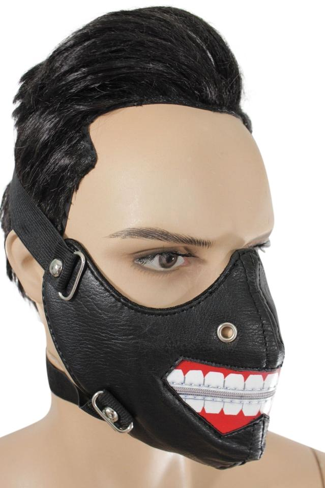 Alwaystyle4you New Men Face Mask Open Zipper Mouth Muzzle Costume Black Halloween Su0026M ...  sc 1 st  Tradesy & Black New Men Face Mask Open Zipper Mouth Muzzle Costume Halloween ...