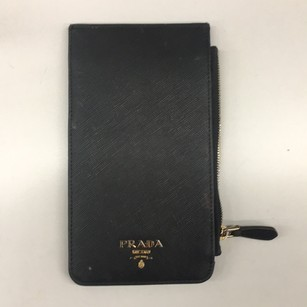 Black prada saffiano leather card holder/wallet Clutch