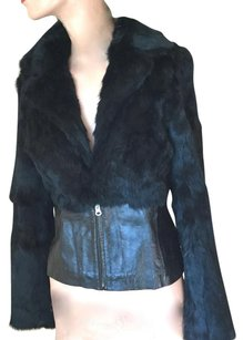Blanc Noir Fur Jacket Rabbit Fur Jacket Fur Rabbit Fur Holiday Jacket Fur Coat