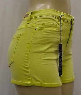 BlankNYC Lime High Rise Stretch Fit 25 140529a Pk Mini/Short Shorts Lime Green
