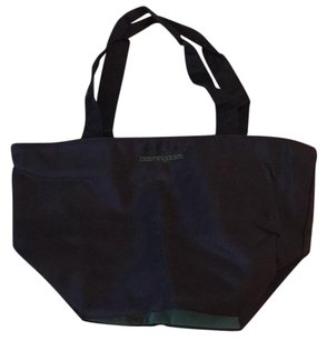 Bloomingdale's Black/Green Beach Bag