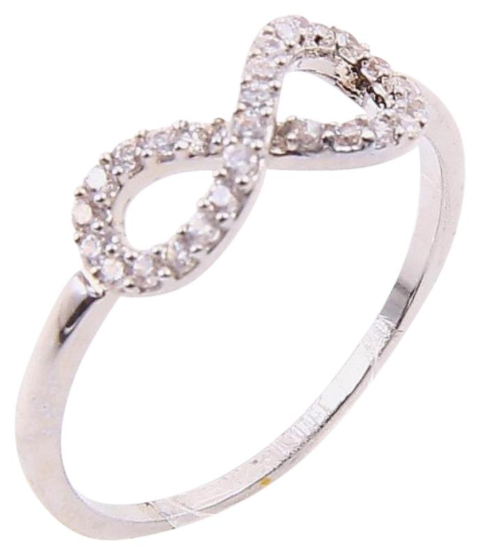 Bloomingdales Silver Rhinestone Pave Cz Diamond Infinity Sign