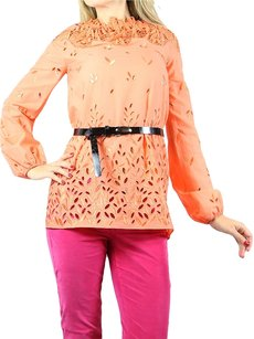 Blumarine Embrodiered Tunic Top orange