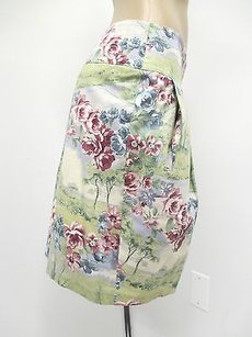 Blumarine Fully Lined Floral Skirt Greens, Blues, and Pinks