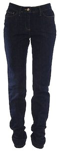 Boden Womens Dark Blue Solid Straight Leg Jeans