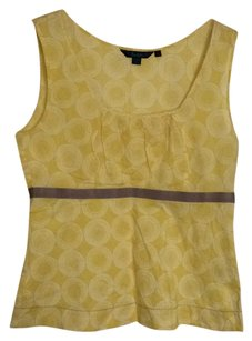 Boden Top Yellow, white and taupe