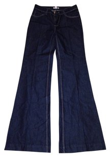 Boston Proper Trouser Trouser/Wide Leg Jeans-Dark Rinse
