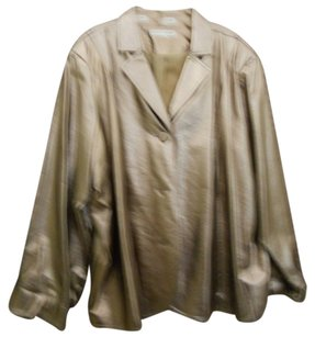 Bamboo Trading Company Faux Leather metalic gold Leather Jacket