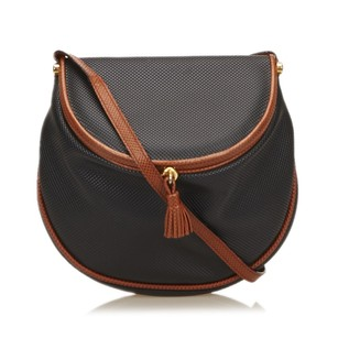 Bottega Veneta Black Brown Leather Shoulder Bag