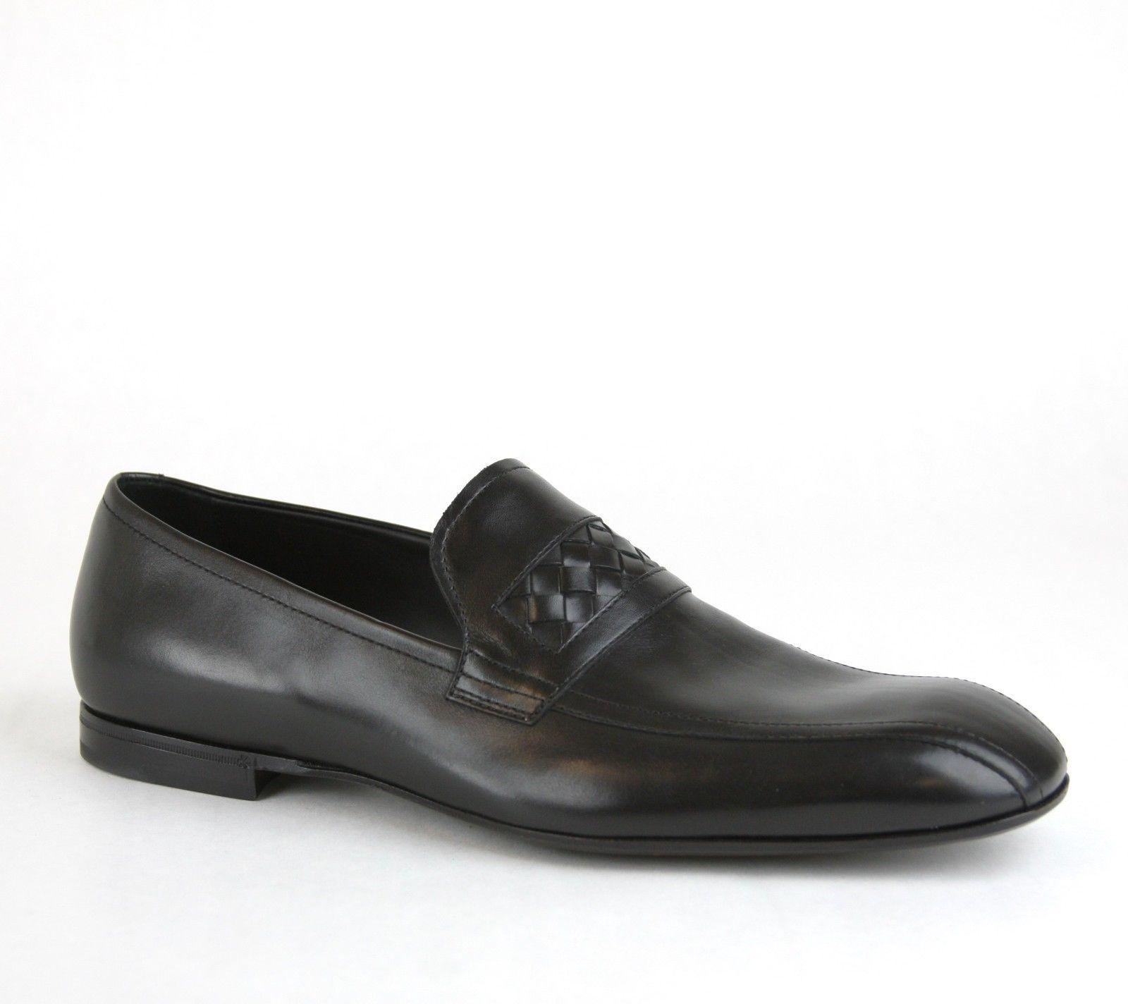 Bottega Veneta Interwoven Leather Loafers