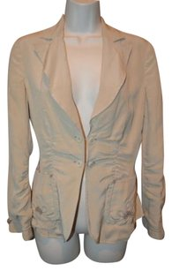 Bottega Veneta 40- 46 Bottega Veneta Beige Silk Lightweight Blazer Jacket Blouse Top