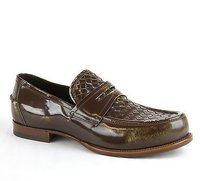 Bottega Veneta Mens Woven Loafer Dress Shoe Brown 298734 3414 It 44 / Us 11