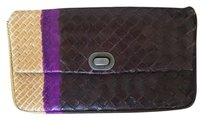 Bottega Veneta Multi. Dark Brown, Purple, tan Clutch