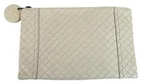 Bottega Veneta White Clutch